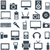 icon set gadgets computer equipment and electronics stock photo © borysshevchuk