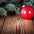 karácsony · piros · labda · fából · készült · ágak · ezüst - stock fotó © Bozena_Fulawka