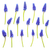 цветы · синий · серый · bokeh · Пасху · цветок - Сток-фото © bozena_fulawka