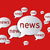 hírek · léggömbök · piros · absztrakt · 3D · papír - stock fotó © bratovanov