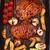 zöldség · asztal · vacsora · eszik · kacsa · steak - stock fotó © brebca