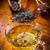 gedroogd · glas · kom · houten · tafel · horizontaal - stockfoto © brebca