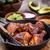 pörkölt · tyúk · zöldség · gyümölcssaláta · narancs · vacsora - stock fotó © brebca