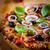 Italiaans · pizza · kaas · tomaten · olijven · basilicum - stockfoto © brebca