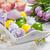 традиционный · Пасху · торт · крашеные · яйца · цветы · синий - Сток-фото © brebca