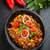 kırmızı · biber · tava · pişmiş · gıda · plaka · domates - stok fotoğraf © brebca