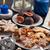natal · bolinhos · tabela · comida · vela - foto stock © brebca