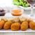mozzarella · frito · delicioso · salsa · de · tomate · restaurante · queso - foto stock © brebca