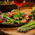 緑 · アスパラガス · サラダ · キノコ · 赤ワイン - ストックフォト © brebca