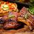 grill · przestrzeni · zabawy · obiedzie · czerwony - zdjęcia stock © brebca