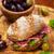 geheel · prosciutto · Italiaans · ham · sandwich - stockfoto © brebca
