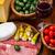 sajt · szalámi · gyógynövények · zöldség · étel · bor - stock fotó © brebca