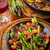 roasted mushrooms with green asparagus stock photo © brebca