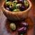 delicioso · verde · azeitonas · pretas · tigela · comida · salada - foto stock © brebca