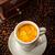 espresso cup in coffee beans stock photo © brebca