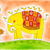 счастливым · слон · птиц · рисунок · акварель · Живопись - Сток-фото © brozova