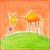 счастливым · молодые · верблюда · рисунок · акварель · Живопись - Сток-фото © brozova