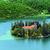 sziget · kolostor · park · víz · fa · természet - stock fotó © brozova