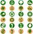 color · ambiental · iconos · circular · aislado · blanco - foto stock © bruno1998
