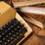 vintage · schrijfmachine · boeken · witte · kantoor · boek - stockfoto © brunoweltmann
