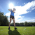 женщину · играет · гольф · области · красивая · женщина · небе - Сток-фото © BrunoWeltmann