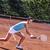 美少女 · 笑みを浮かべて · テニスラケット · 小さな · テニスコート · 美しい - ストックフォト © brunoweltmann