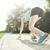 futó · sportos · nő · kezdet · pozició · izolált - stock fotó © brunoweltmann