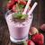 tasty strawberry shake on wooden table stock photo © brunoweltmann