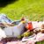 пикника · время · свежих · продуктов · трава · саду · небе - Сток-фото © brunoweltmann
