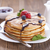 delicious sweet american pancakes on a plate with fresh fruits stock photo © brunoweltmann