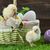 easter bucket with eggs young easter chickens around stock photo © brunoweltmann