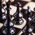 közelkép · sakkfigurák · sakktábla · csoport · fekete · fekete-fehér - stock fotó © brunoweltmann