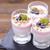 delicious dessert flakes flooded in two flavors yogurt with blu stock photo © brunoweltmann