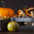 fresh mushrooms corn and pumpkin stock photo © brunoweltmann