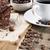 kawy · słodycze · drewniany · stół · studio · papieru - zdjęcia stock © BrunoWeltmann