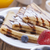 delicious sweet french pancakes on a plate with fresh fruits stock photo © brunoweltmann