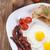 sahanda · yumurta · domuz · pastırması · plaka · baharatlar · sebze - stok fotoğraf © BrunoWeltmann