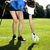 набор · мяч · для · гольфа · девушки · улыбка · спорт - Сток-фото © BrunoWeltmann