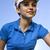 menina · jogador · de · golfe · ao · ar · livre · retrato · mulher · golfe - foto stock © brunoweltmann