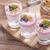 finom · desszert · pelyhek · kettő · ízek · joghurt - stock fotó © brunoweltmann