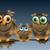 baykuş · kuş · aile · karikatür · ev - stok fotoğraf © brux