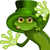 green frog wearing a hat of saint patrick stock photo © brux