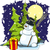 веселый · снеговик · иллюстрация · подарок · ночное · небо · зима - Сток-фото © brux