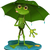 frog with a green umbrella stock photo © brux