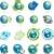 mondo · mappa · del · mondo · verde · icone · ambientale - foto d'archivio © brux