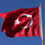 turkish flag waving in wind at sunny day stock photo © bsani