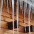 wooden house with big icicles on snow covered roof stock photo © bsani