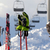protective sports equipment on ski poles at ski resort stock photo © bsani