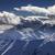 tél · hegyek · este · sziluett · Kaukázus · Grúzia - stock fotó © bsani