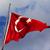 флаг · Турция · флагшток · изолированный · белый - Сток-фото © bsani